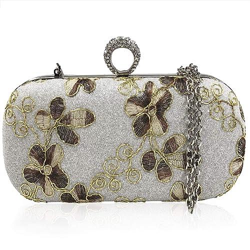 2fdf0cbe7 Bolso De Las Mujeres Bordado Bolso De Noche Clutch Bag Billetera Embrague  Bolsos De Mano¡