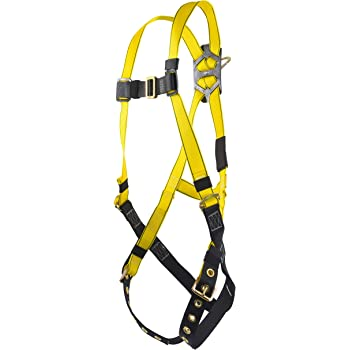 MSA 10072485 Workman Harness with Back//Hip D-Rings Super X-Large Qwik-Fit Leg and Chest Straps