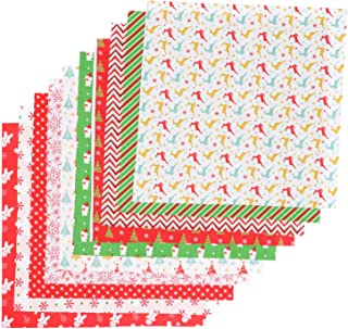 Pacotes de tecido de algodão de Natal da Exceart de 49,68 cm x 49,68 cm, quadrados de costura, tecido acolchoado, retalho...