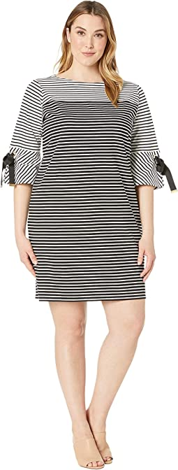 Plus Size Striped Cotton Dress