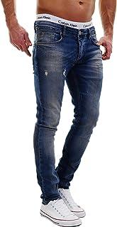 MERISH 5-Pocket Denim Jeans Stretch Used Look Skinny Model J2021 Blue