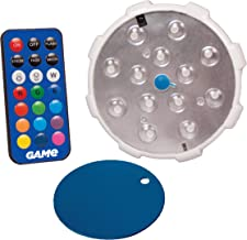 GAME 4307-BB Waterproof Magnetic LED Changing Pool Wall Light with Remote Control 100% Waterproof & Submersible, 4