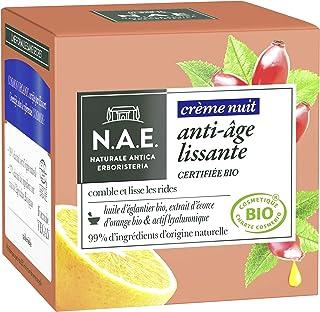 N.A.E. - Crème Visage Nuit Anti-Rides - Certifiée Bio - Huile d'Eglantier Bio et Extrait d'Ecorce d'Orange Bio - 98% d'ing...