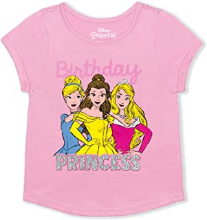 Disney Princess Girl's Birthday Princess Blouse Tee Shirt