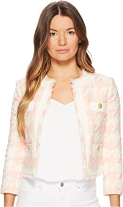 Gingham Gold Buttoned Jacket