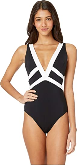8504e2875eccf Jets by jessika allen fanciful ruffled plunge one piece | Shipped ...
