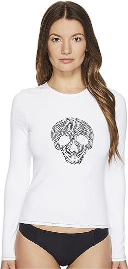 Letarte - Studded Skull Rashguard