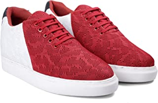 BXXY 2.8 Inch Hidden Height Increasing Casual Red Colour Outdoor Shoes in TPR Sole. Height Elevator Shoes