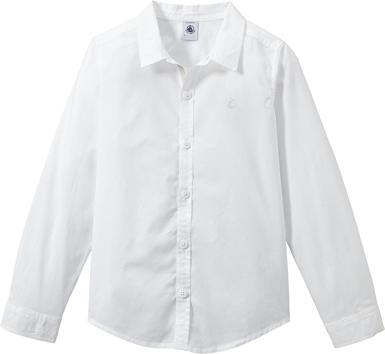 Petit Bateau Button Down Shirt (Toddler Kids) - White-4 Years