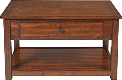 New Classic Graham Lift Top Burnished Cherry Cocktail Table