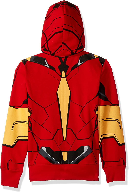 Kid/'s Marvel Original Iron Man 3 Camo-Blue Full Zip-up Hoodie Size XL 10-12