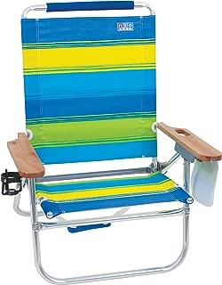 Rio Brands Bright Wide Stripe Bum Beach Chair