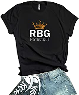 تيشيرت Decrum Notorious RBG للنساء - قميص نسائي مطبوع عليه عبارة Feminist Ruth Bader Ginsburg