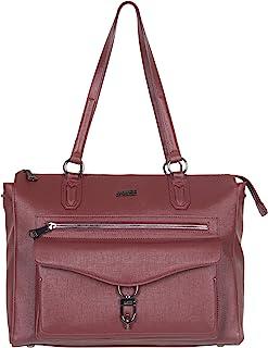 Aimee Kestenberg Women's Isla Saffiano Faux Leather Anti-Theft RFID 15in Business Tote