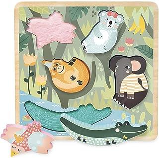 Vilac- Encastrement Tactile Jungle Michelle Carlslund, 8502, Multicolore