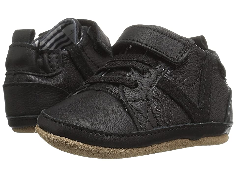 Robeez Asher Athletic First Kicks (Infant/Toddler) (Black) Boy