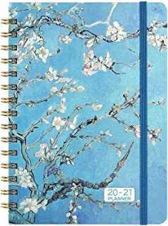 """2020-2021 Planner - Academic Planner 2020-2021, from Jul 2020 - Jun 2021 with Weekly & Monthly Spread, 6.37"""" x 8.46"""", Strong Twin- Wire Binding, Hardcover, Tabs, Inner Pocket, Elastic Closure"""