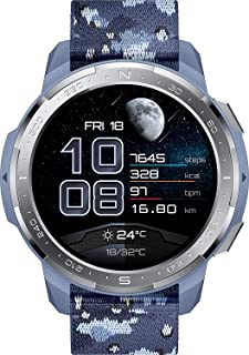 """Honor Watch GS Pro Smart Watch 1.39"""" AMOLED 5ATM Waterproof - Camo Blue with Gray Blue Nylon Strap"""