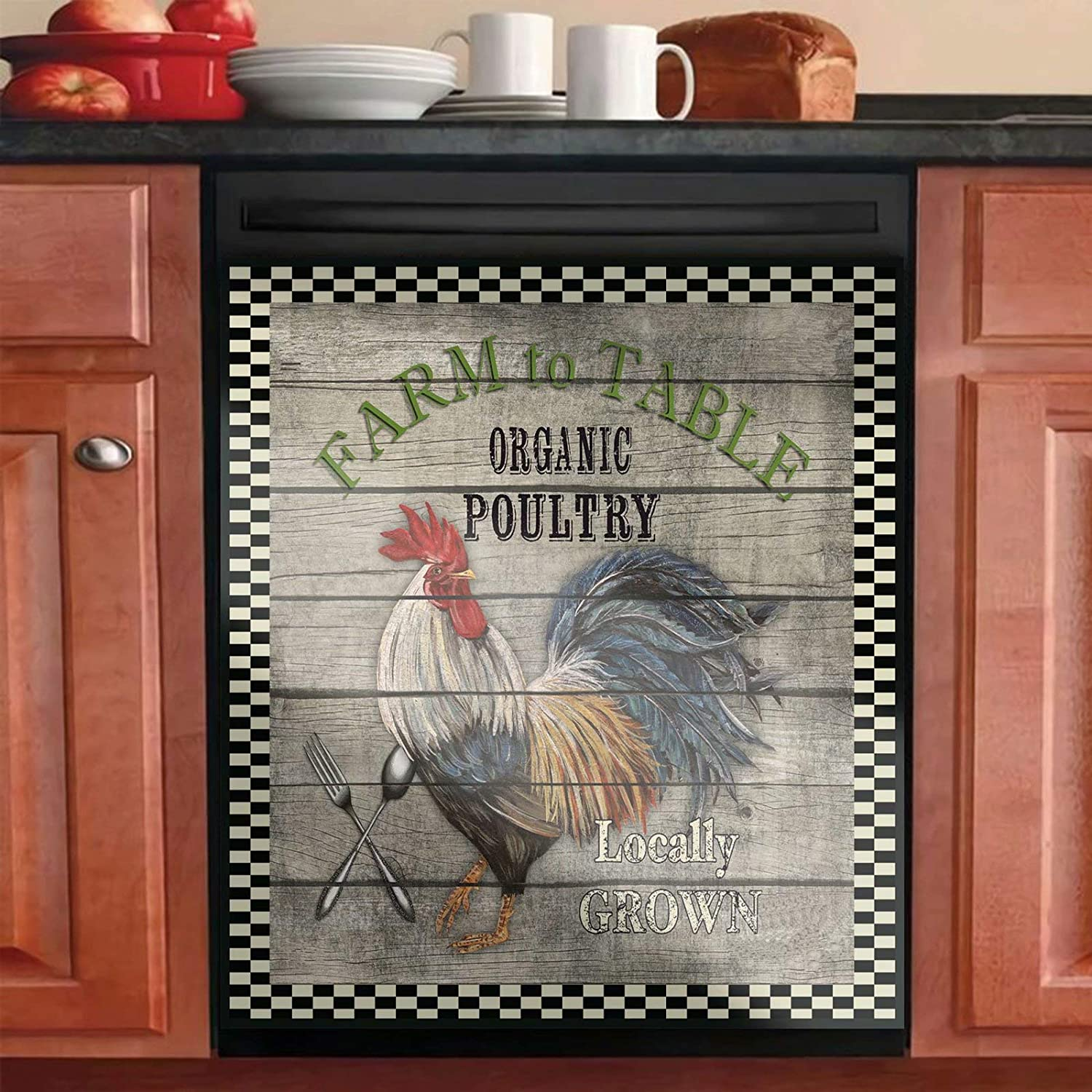 Country Las Vegas Mall Rooster Kitchen Memphis Mall Decor Dishwasher Magn Sunshine Sunflower