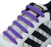 Newkeen No Tie Lacets pour Les Enfants et Adultes, imperméables Silicon Flat élastiques Lacets de Sport Course de...