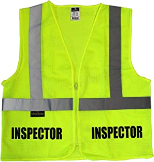 Conspiracy Tee Inspector Safety Vest, High Visibility Vest