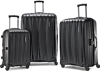 "AMERICAN TOURISTER Arona Premium Hardside Spinner 3Pcs Luggage Set 20"" 25"" 29"" (Charcoal)"
