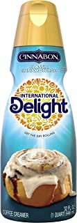 International Delight Cinnabon Classic Cinnamon Roll Coffee Creamer Quart, 32 Ounce