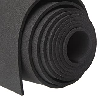MAGZO Sponge Neoprene Foam Rubber Sheets and Rolls,Black Foam Roll 1/8in x 12in x 4.9Ft Easy to Cut for Padding,DIY,Cosplay,Gaskets,Non-Slip,Toolbox