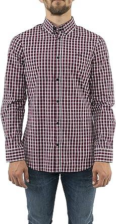 Guess Camisa Hombre Cuadros Slim fit (XL): Amazon.es: Ropa