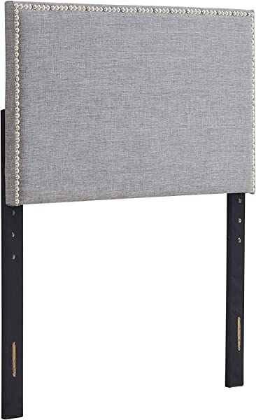 Urban Home Furniture 03 1019 GR Amanda Square Twin Grey Headboard