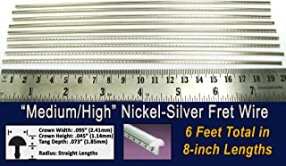 Guitar Fret Wire - Medium/High Gauge Nickel-Silver - Six Feet