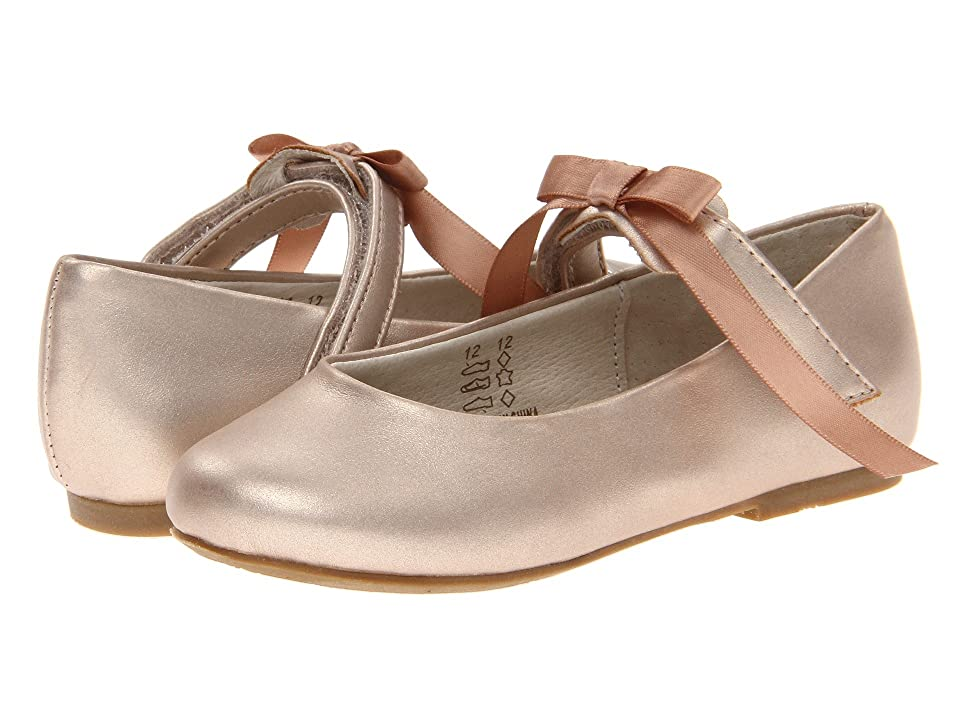 Pazitos Classic Ballerina MJ PU (Toddler/Little Kid) (Champagne) Girls Shoes