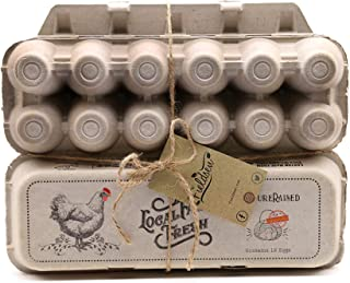 Egg Cartons [200 PACK] Eco Friendly Paper Egg Cartons Cheap Bulk for Locally Laid Farm Fresh Eggs Perfect Chicken Gifts for Chicken Lovers Farmers Market Supplies Fits Small to Extra Large dozen Eggs