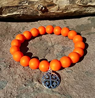 Orange Silcone Bracelet Bella Cuff not Rustic Cuff Catherine