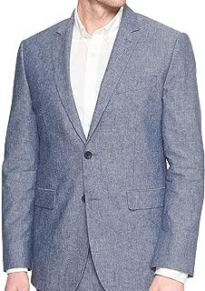 Banana Republic Men's Standard-Fit Blue Linen Blend Blazer Blue