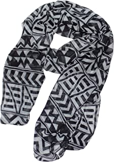 Icon Collection Fashion Rectangle Scarf Soft Womens, Mens & Girls Scarves (Black Incan)