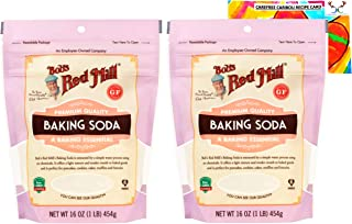Gluten Free Baking Soda Bundle. Bundle Includes Two (2) Bob's Red Mill 16oz Resealable Baking Soda Packages and an Authent...