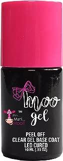 Moo Gel Peel off LED gel base coat to use under any gel polish