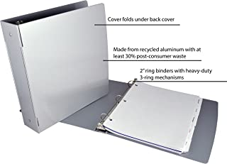 Saunders Recycled Aluminum Ring Binder, 2-Inches Spine, Letter Size, 8.5 x 12-Inches, 1 Binder (00605)