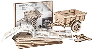 WOODEN.CITY Trailer Addition for 4x4 Army Jeep 3D Mechanical Wooden Puzzle
