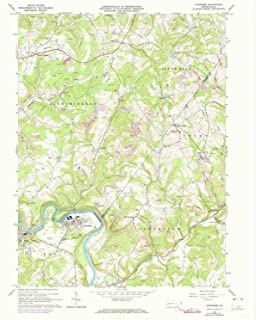 YellowMaps Avonmore PA topo map, 1:24000 Scale, 7.5 X 7.5 Minute, Historical, 1964, Updated 1973, 27 x 22.1 in