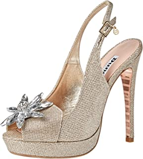 Dune London Majesty DI Occasion Shoe For Women, Champagne, 36 EU