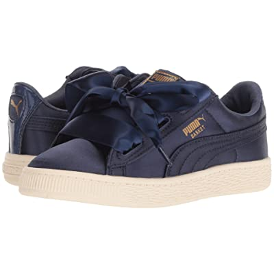 Puma Kids Basket Heart Tween PS (Little Kid/Big Kid) (Sargasso Sea) Girls Shoes