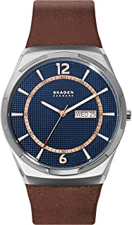 Skagen Melbye Men's Blue Dial Leather Analog Watch - SKW6574