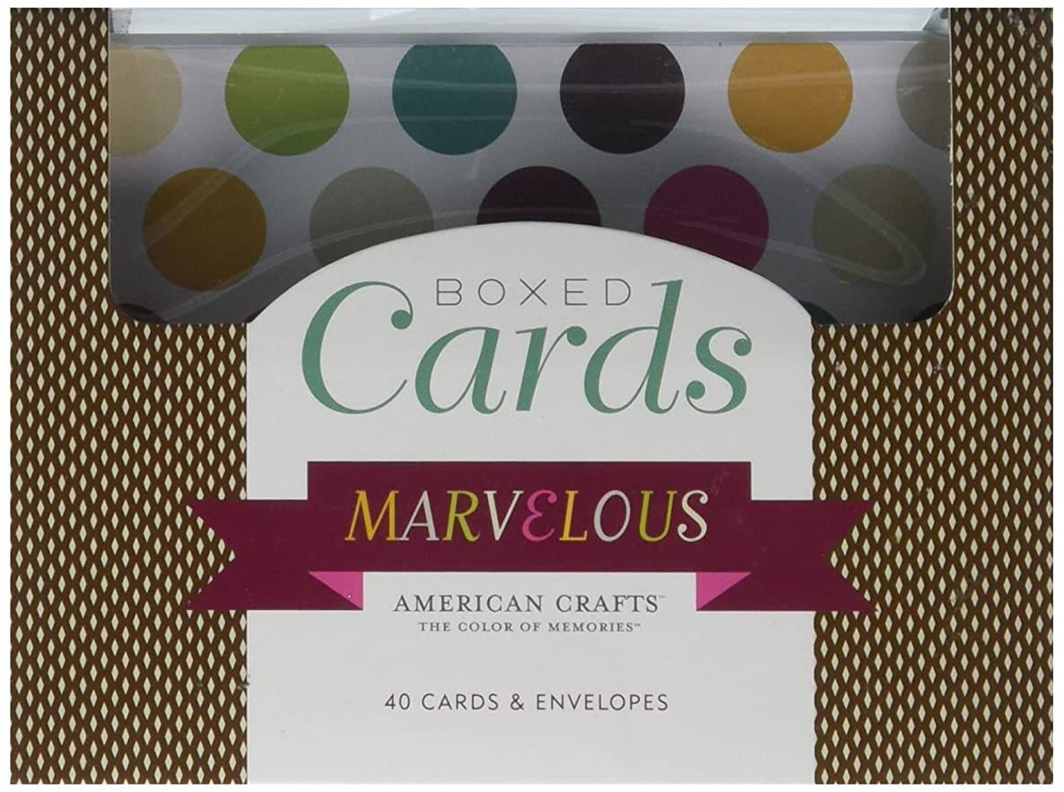 Boxed Cards and Envelopes – Marvelous by American Crafts | Includes 40 cards and envelopes. Various designs.