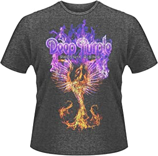 Deep Purple ディープ・パープル Phoenix Rising フェニックス・ライジング 公式 メンズ グレー スリム・フィット Tシャツ