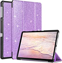 BENTOBEN Case for Galaxy Tab A 10.5 2018, Glitter Sparkly Slim Flip Folio Stand PU Leather Smart Cases Auto Sleep/Wake Protective Cases Cover for Samsung Galaxy Tab A 10.5 (SM-T590/SM-T595), Purple
