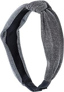 Holiday Sparkle Turban Knot Headband - Silver