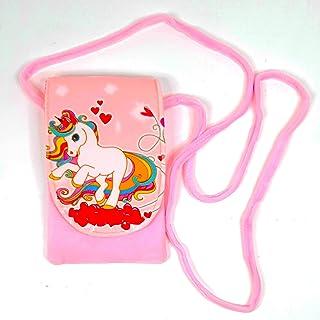 Crackles Unicorn Fur Sling Bag for Baby Girls,Kids Shoulder Messenger Sling Bags (Assorted Colors and Designs Pack of 1)
