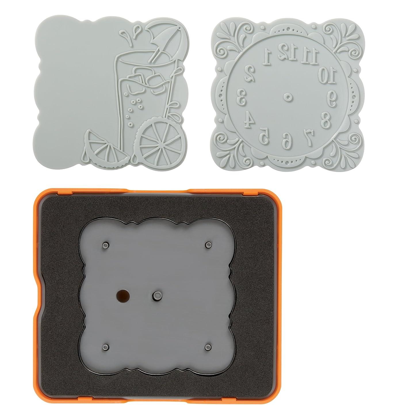 Fiskars 101890-1001 Curvy Square Design Set, Complex Pattern, Medium